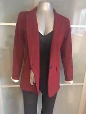 Brand New Pull & Bear Size M Red Burgundy Purple Blazer Jacket Coat