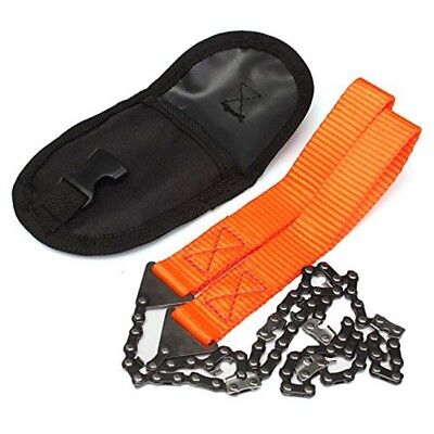 Outdoor Emergency Camping Tool Pocket Survival Chain Saw Black Hand Chainsaw FG