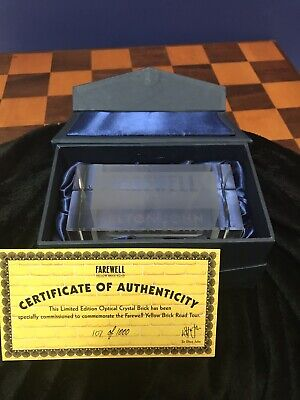 Elton John Limited Edition Optical Crystal Brick From Final Tour W Coa Mint Ebay