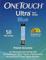 4 Pack One Touch Ultra Blue 50 Test Strips Each on sale