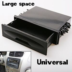 For-Universal-Deluxe-Car-Auto-Din-Radio-Installation-Pocket-Kit-Storage-Box