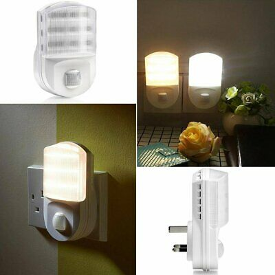 1x LED Plug-In Automatic Sensor Hallway Plug Socket Night Light Safety Room Lamp
