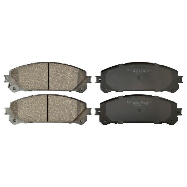 Front D1324 Ceramic Brake Pads 2011 2012 2013 2014 2015 2016 TOYOTA SIENNA