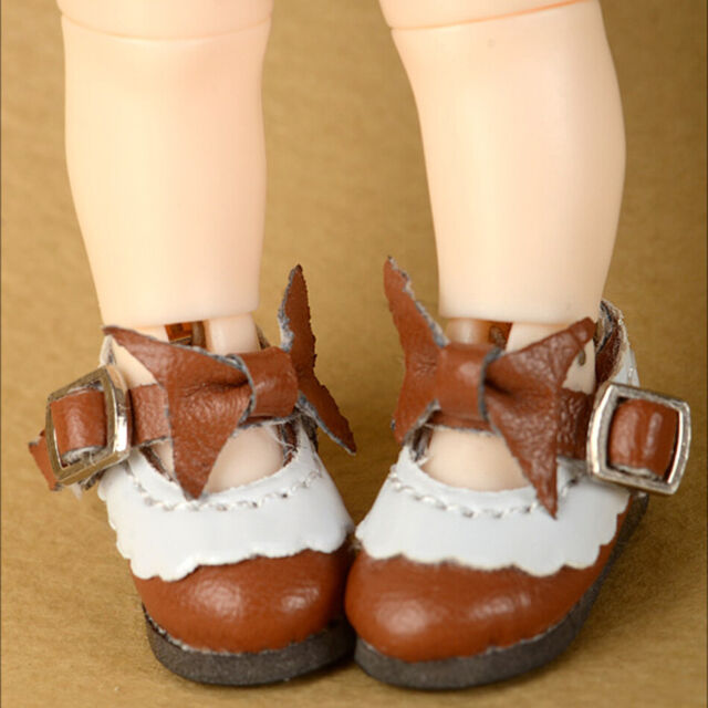 "Brown blythe size boots Dollmore NEW 12/"" BJD doll shoes Anfan Fri Boots"