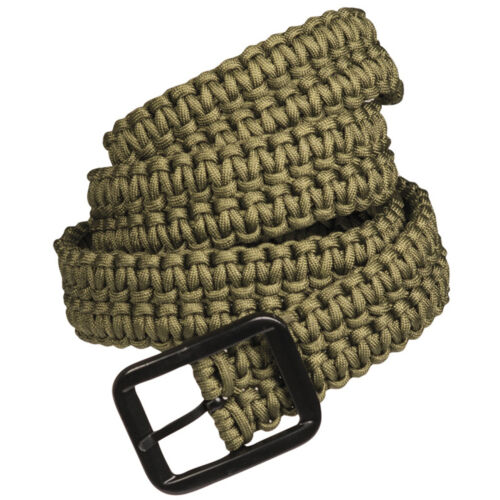 Mil-Tec Paracord Survival Hiking Work Army Bushcraft Military Trouser Belt Green