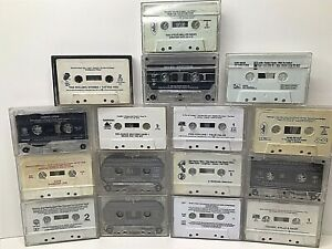 Lot of 16 Vintage Assorted Cassettes-NO Artwork-Tapes and Cases Only LOOK FS!!