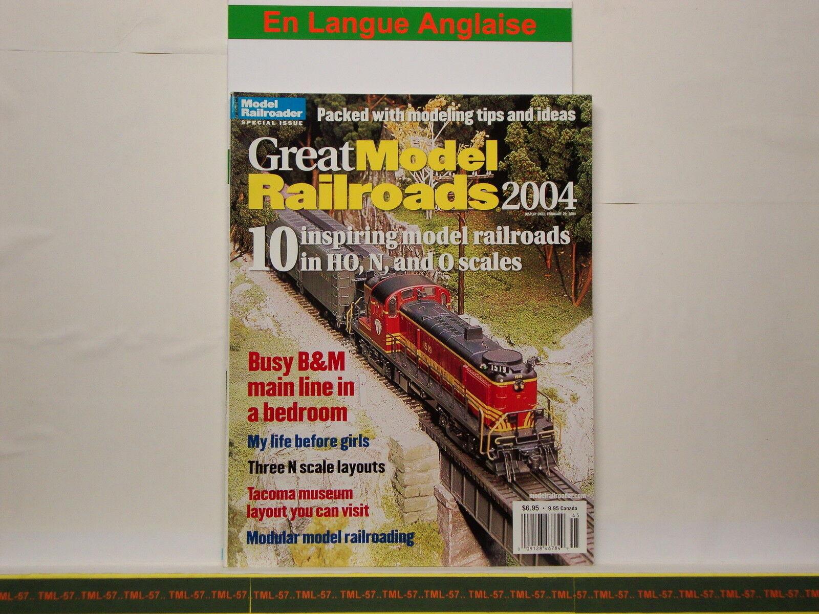 Livre MODEL RAILROADER - Great Model Railroads 2004 - 100 p