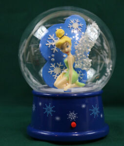Christmas Tinkerbell.Details About Gemmy Disney Tinkerbell Christmas Tabletop Musical Snow Globe 10 Carols