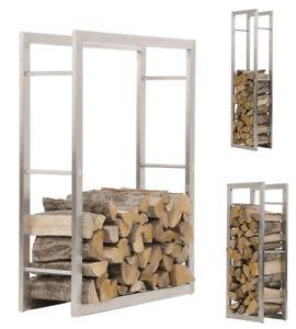 kaminholzst nder keri edelstahl kaminholzregal kaminholzhalter brennholzregal ebay. Black Bedroom Furniture Sets. Home Design Ideas