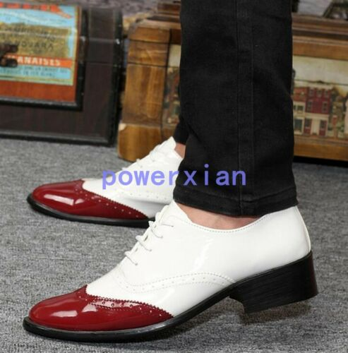 Classic Mens Lace Up Wing Tip Fashion Patent Leather Oxfords Dress Formal Shoes