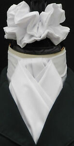 Ready-Tied-Plain-White-Cotton-Riding-Stock-amp-Scrunchie-Dressage-Hunting-Show