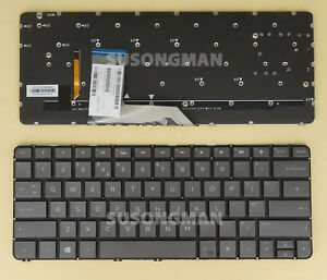 HP Spectre X360 13-4000 13-4100 13T-4000 13T-4100 Backlit Keyboard US Gray