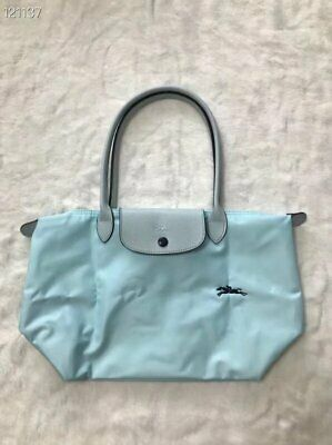 France Made Longchamp Le Pliage Club Collection Small Tote Cloud Blue S    eBay