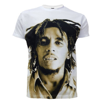 Bob Marley Black /& White OFFICIAL Reggae Rastafari Peace Rasta T-Shirt to XXL11A