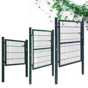 Image Is Loading 2d Metal Steel Garden Fence Gate Yard Wire