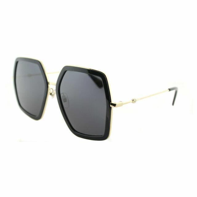 3050b7cdddc4 Authentic Gucci Gg0106s 001 Black Gold GG 0106s Sunglasses for sale ...