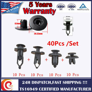 Assortment-of-40pcs-Car-Body-Plastic-Push-Pin-Rivet-Fastener-Trim-Moulding-Clip