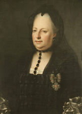 Maria Theresa Dressed in Mourning Clothes Anton von Maron Adel Kette B A3 00614