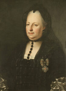 Maria-Theresa-dressed-in-mourning-clothes-Anton-von-Chestnut-Noble-Chain-B-a3-00614