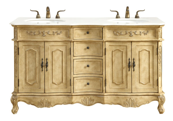 Elegant VF10160DAB 60 In. Double Bathroom Vanity Set In ...
