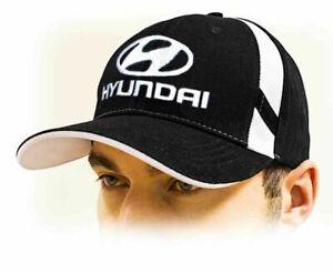 MotivéE Hyundai Unisex Baseball Casquette, Hyundai Cap, 100% Coton, Noir, Toutes Tailles Style à La Mode;