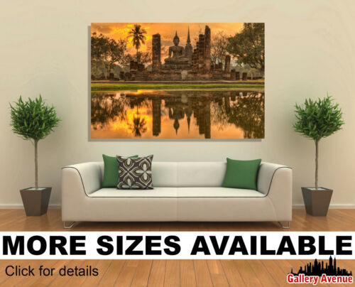Wall Art Canvas Picture Print Wat Mahathat Thailand Buddhist Temple 3.2