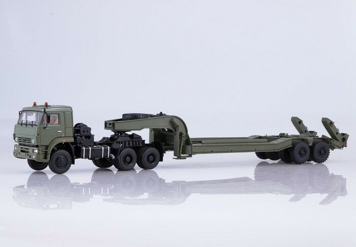 Start Scale Models (SSM) 1 43. KAMAZ - 65255 with Heavy SEMITRAILER Chmzap - 5247 G.