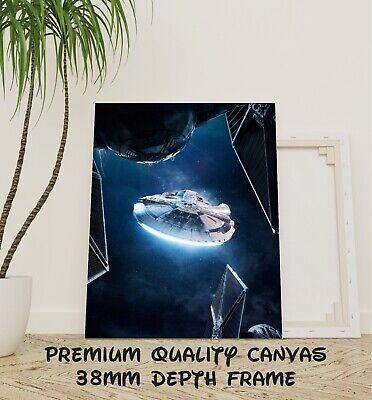 Millennium Falcon Star Wars Classic Movie Large Poster Art Print Maxi A1 A2 A3