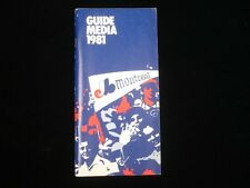 1981 Montreal Expos Baseball Media Guide EX