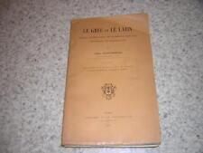 1909.grec et latin.grammaire comparée.phonétique morphologie / Cliquennois