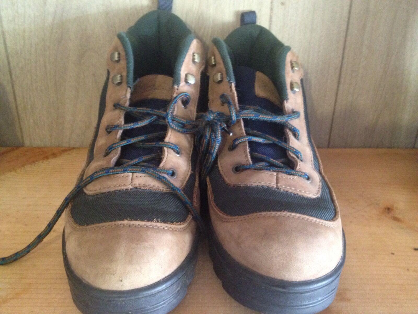 Uomo Eddie Bauer Suede Hiking Boots Size 10 M Nice!