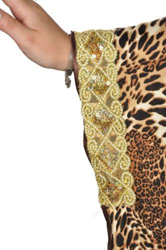 Elegante da donna kaftan abito nel Butterfly Look Estate Vacanza abito casa ka01149