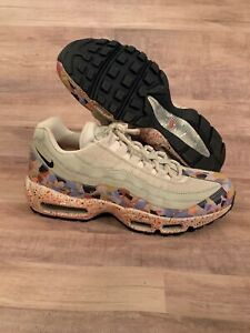 857fce0c45 Nike Women Air Max 95 SE Confetti Vast Grey Habanero Size 11 NEW ...