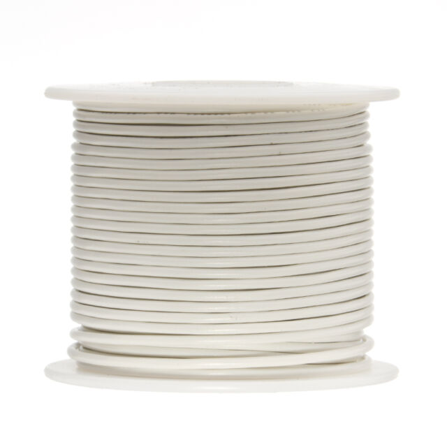 "20 AWG Gauge Solid Hook Up Wire Gray 25 ft 0.0320/"" UL1007 300 Volts"
