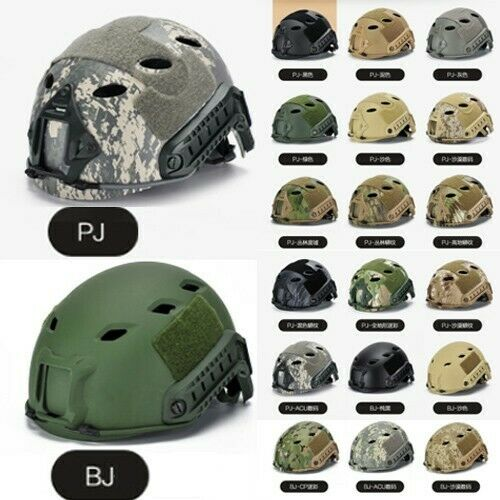 Tactical Fast Paratrooper Helmet BJ PJ  Type Adjustable Combat Hunting Wargame  creative products