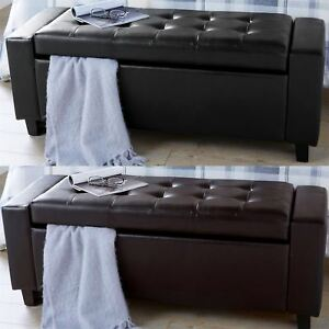 Fabulous Details About Verona Ottoman Blanket Box Storage Box Bench Seat Faux Leather Foot Stool Ibusinesslaw Wood Chair Design Ideas Ibusinesslaworg