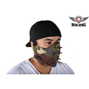 Camouflage Face Mask With Spikes For Bikers Military Army Ebay