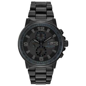 Citizen-Eco-Drive-Men-039-s-Nighthawk-Chronograph-Black-42mm-Watch-CA0295-58E