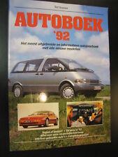 Autoboek '92 door Ted Sluymer