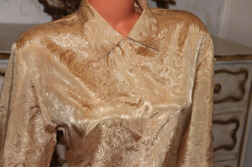 Gold Blouse 14 Top Size Shiny Shirt Essentials In 16 w1C5qq