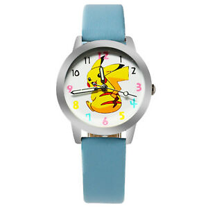 Boy-Kids-Children-Pokemon-Pikachu-Wrist-band-Watch-Easter-Christmas-Gift-him