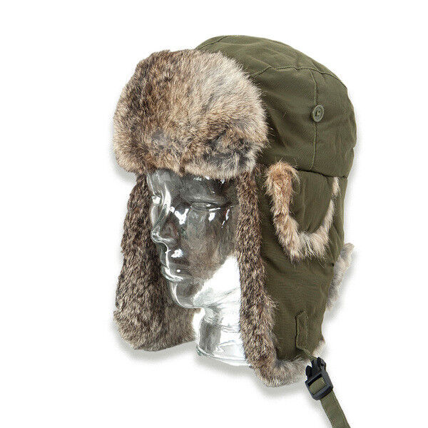 Loden Hat fur Hat - Real Rabbit fur - Olive