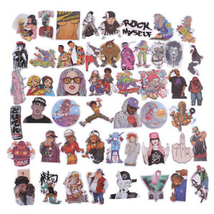 48Pcs-bag-hip-hop-punk-music-band-stickers-DIY-suitcase-laptop-car-stickers-J