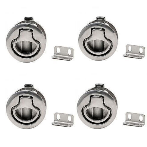 """Marine Boat flush mount Hatch Flush Pull Latch 2/"""" Stainless Steel Super TWO"""