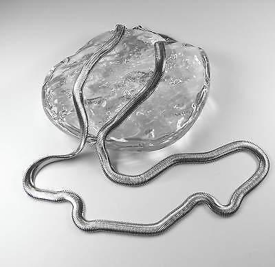 Freundlich Neu 50cm Edelstahlkette Halskette Milanesekette Edelstahl Schlangenkette Brt 6mm