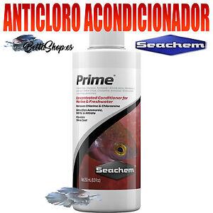 ANTICLORO PARA ACUARIO ACONDICIONADOR PRIME DE SEACHEM ANTICLOROS ACUARIO PECERA