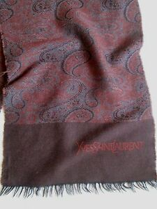 Yves Tbeg Sciarpa vergine Saint pura Vintage Laurent Sciarpa in lana Sciarpa PZ4wOx