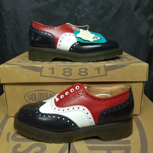 5 39 Shoes Solovair Red 145£ Brogue Navy 6 Men's Uk Pv Eye Eur Women's 5 White 34SAL5jcqR
