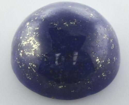 10mm ROUND CABOCHON-CUT ROYAL-BLUE WITH GOLDEN FLECKS NATURAL LAPIS LAZULI GEM