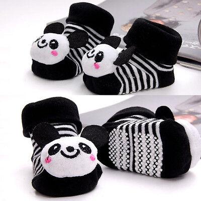 Cartoon Newborn Baby Girl Boy Anti-slip Socks Slipper Shoes Boots 0-6 Months